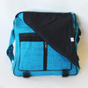 large fair trade expanding satchel bag in turquoise