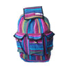 fair trade firelight colourful striped gehri cotton large hippy rucksack with pockets from Nepal