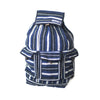 fair trade moonlight striped gehri cotton large hippy rucksack with pockets from Nepal
