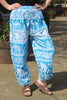 coloured elephant print harem trousers
