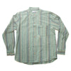 light green striped men's grandad shirt
