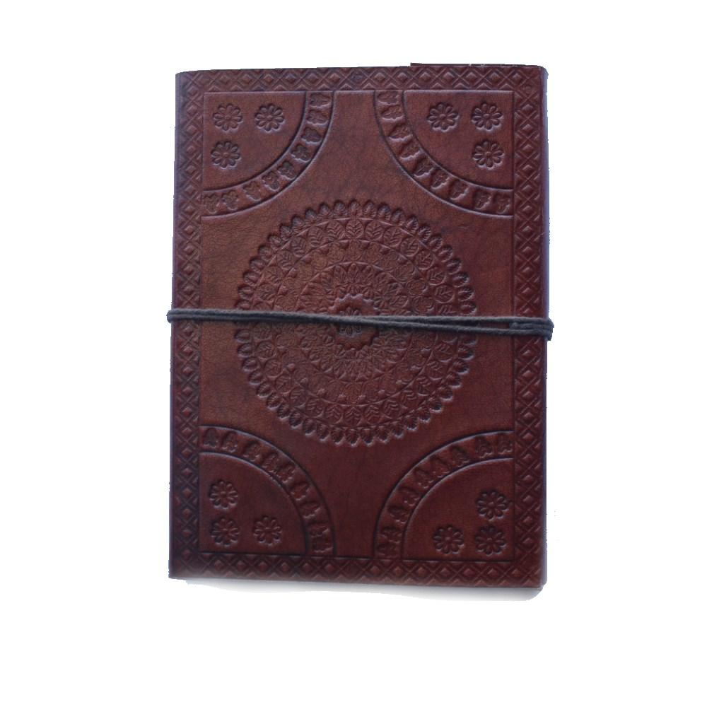 mandala embossed journal from india with tie