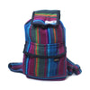 fair trade firelight colourful striped gehri cotton mini rucksack from Nepal