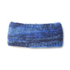 mix knit wool headband blue