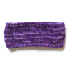 mix knit wool headband purple