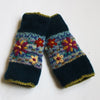 fair trade navy wrist warmers