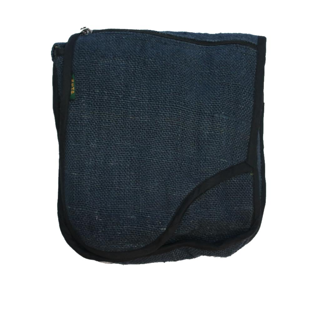 navy hemp shoulder bag