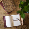 Slim Indian leather fold journal