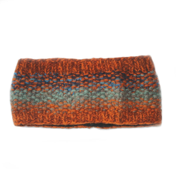abstract headband in orange dusk colours
