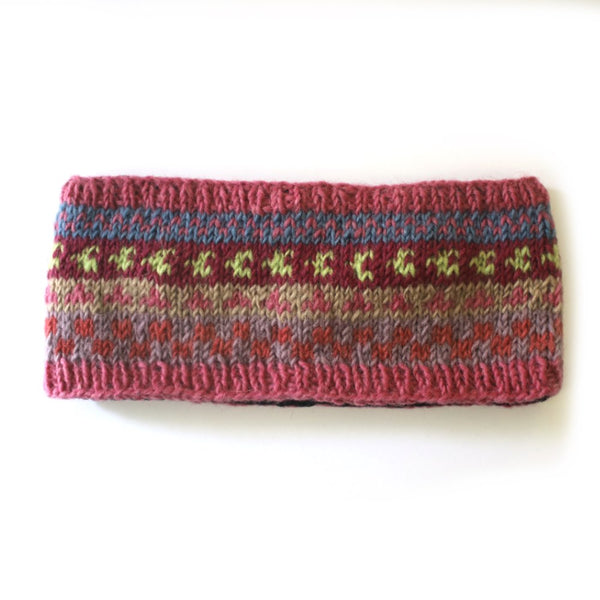 winter stripe wool headbands - various