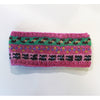 pink nordic knit wool headband