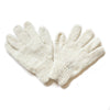 plain wool gloves in cream colour