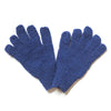 wool gloves in plain blue colour