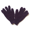 plain wool gloves in plum colour
