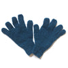 plain gloves in teal colour