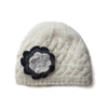 fair trade cream wool cable knit beanie hat