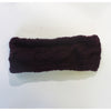 plum wool headband cable knit