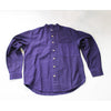 purple cotton men's grandad shirt