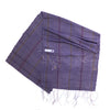 purple contrast stripe silk scarf