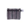 fair trade black white striped gehri cotton coin purse from Nepal
