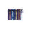 fair trade blue multi colourful striped gehri cotton coin purse from Nepal