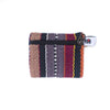 fair trade ember striped gehri cotton coin purse from Nepal