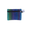 fair trade green purple striped gehri cotton coin purse from Nepal