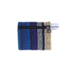 fair trade lightning striped gehri cotton coin purse from Nepal