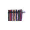 fair trade orange multi colourful striped gehri cotton coin purse from Nepal