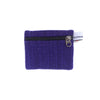 fair trade purple gehri cotton coin purse from Nepal
