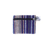 fair trade purple haze striped gehri cotton coin purse from Nepal