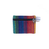 fair trade rainbow colourful striped gehri cotton coin purse from Nepal