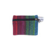 fair trade red turquoise striped gehri cotton coin purse from Nepal