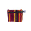 fair trade spice striped gehri cotton coin purse from Nepal