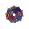 fair trade colourful striped gehri cotton coin purses from Nepal