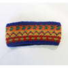 rainbow nordic knit wool headband