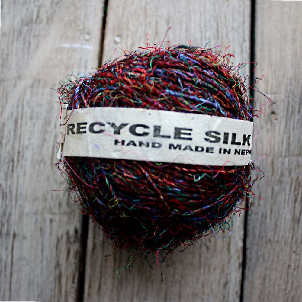 single silk yarn ball from nepal