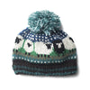 wool sheep 'baa' bobble hat in blue