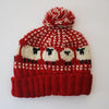 bright red colourful fun wool bobble hat