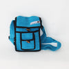 small fair trade shoulder bag in turquoise