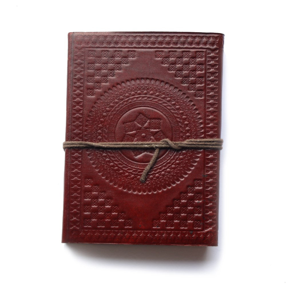 star embossed leather journal from india
