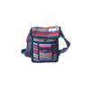 fair trade orange multi colourful striped gehri cotton small shoulder bag from Nepal
