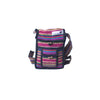 fair trade pink multi colourful striped gehri cotton small shoulder bag from Nepal