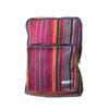 fair trade ember striped gehri cotton square hippy rucksack from Nepal