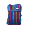 fair trade firelight colourful striped gehri cotton square hippy rucksack from Nepal
