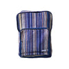fair trade purple haze colourful striped gehri cotton square hippy rucksack from Nepal