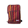 fair trade spice colourful striped gehri cotton square hippy rucksack from Nepal