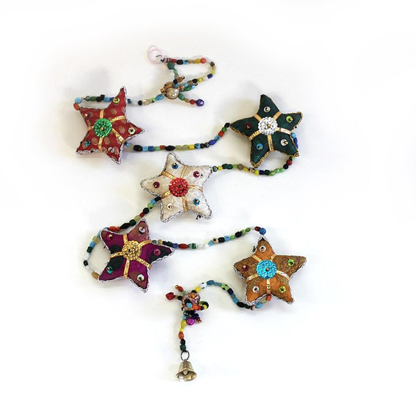 String of stars tota bell Indian hanging decoration