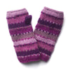 striped wrist warmers fairly traded from nepal in pink colours