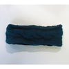 teal wool headband cable knit